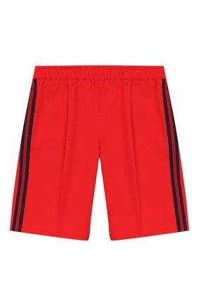Детские хлопковые шорты GUCCI красного цвета, арт. 600271/XWAIW | Фото 1