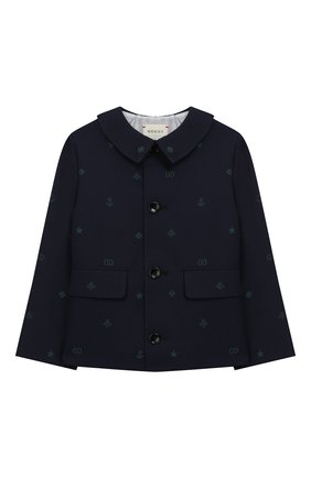 Детский хлопковый пиджак GUCCI синего цвета, арт. 600352/XWAHH | Фото 1