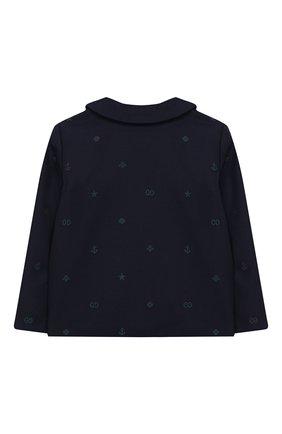 Детский хлопковый пиджак GUCCI синего цвета, арт. 600352/XWAHH | Фото 2
