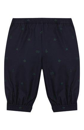 Детские хлопковые брюки GUCCI синего цвета, арт. 600353/XWAHH | Фото 2