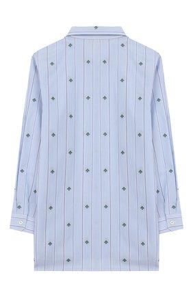 Детская хлопковая рубашка GUCCI голубого цвета, арт. 600376/XWAHS | Фото 2 (Материал внешний: Хлопок; Рукава: Длинные; Случай: Повседневный; Ростовка одежда: 12 лет | 152 см, 4 года | 104 см, 5 лет | 110 см, 6 лет | 116 см, 8 лет | 128 см)