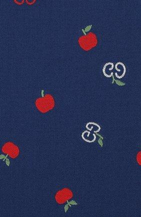 Женская хлопковое платье GUCCI синего цвета, арт. 604090/XWAH3 | Фото 3