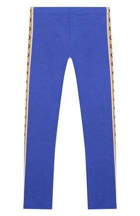 Детские хлопковые брюки GUCCI синего цвета, арт. 607495/4K008 | Фото 2