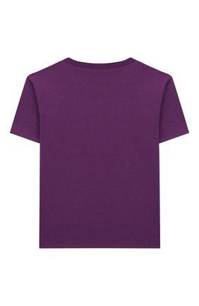 Детская хлопковая футболка GUCCI фиолетового цвета, арт. 609675/XJB92 | Фото 2