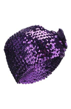 Детского шапка GUCCI фиолетового цвета, арт. 610952/4K023 | Фото 1
