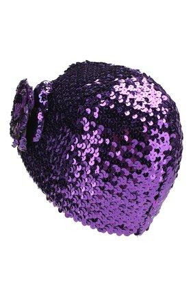 Детского шапка GUCCI фиолетового цвета, арт. 610952/4K023 | Фото 2