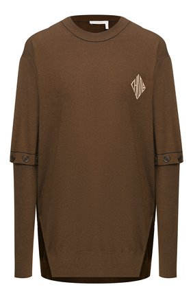 Женский пуловер CHLOÉ хаки цвета, арт. CHC20SMP58600 | Фото 1