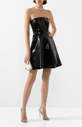 Женское кожаное платье RALPH LAUREN черного цвета, арт. 290809617 | Фото 2