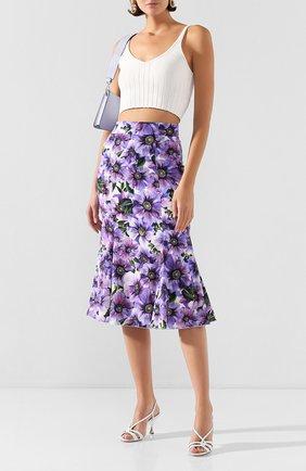 Женская шелковая юбка DOLCE & GABBANA фиолетового цвета, арт. F4BPJT/FSAZ0 | Фото 2