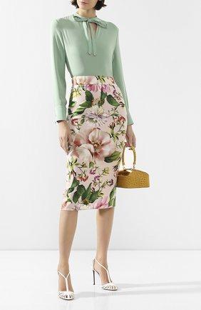 Женская шелковая юбка DOLCE & GABBANA розового цвета, арт. F4BSYT/FSAZK | Фото 2