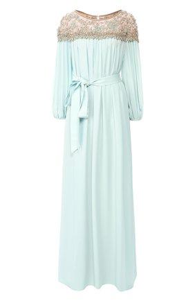 Женское шелковое платье MARCHESA синего цвета, арт. M28703 | Фото 1