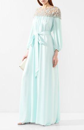 Женское шелковое платье MARCHESA синего цвета, арт. M28703 | Фото 2
