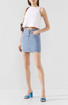 Женская джинсовая юбка DOLCE & GABBANA светло-голубого цвета, арт. F4BR7D/G899A | Фото 2