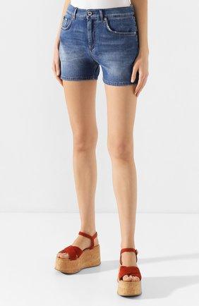 Женские джинсовые шорты DOLCE & GABBANA светло-голубого цвета, арт. FTBQ9D/G8990 | Фото 3