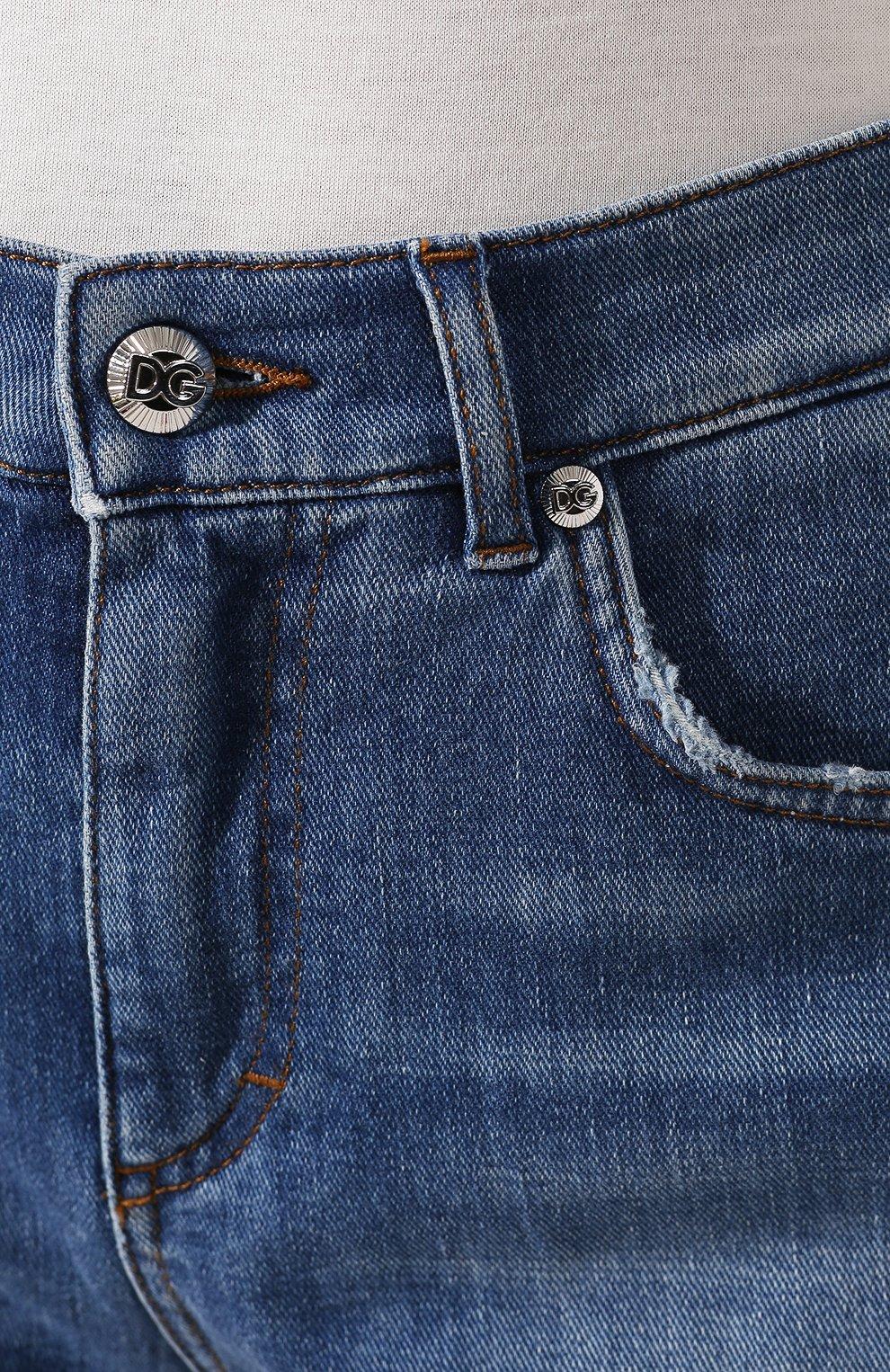 Женские джинсовые шорты DOLCE & GABBANA светло-голубого цвета, арт. FTBQ9D/G8990 | Фото 5