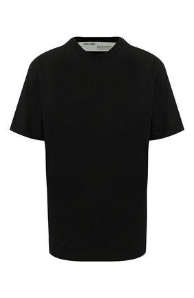 Женская хлопковая футболка OFF-WHITE черного цвета, арт. 0WAA049R20F291251010 | Фото 1