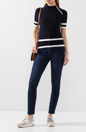 Женский шерстяной пуловер GIORGIO ARMANI черного цвета, арт. 3HAM21/AM43Z | Фото 2 (Длина (для топов): Стандартные; Рукава: Короткие; Материал внешний: Шерсть; Женское Кросс-КТ: Пуловер-одежда)