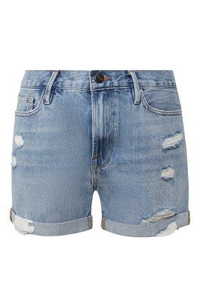 Женские джинсовые шорты FRAME DENIM голубого цвета, арт. LBUSCF385 | Фото 1