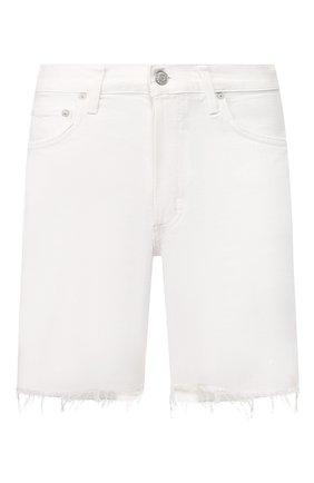 Женские джинсовые шорты AGOLDE белого цвета, арт. A120-1083 | Фото 1