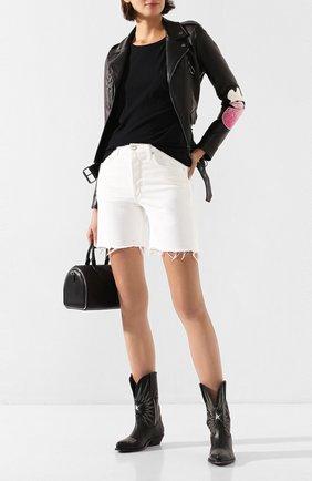 Женские джинсовые шорты AGOLDE белого цвета, арт. A120-1083 | Фото 2