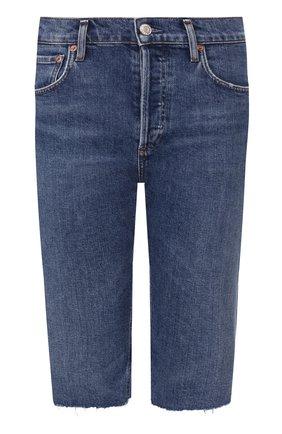 Женские джинсовые шорты AGOLDE синего цвета, арт. A119-1046   Фото 1