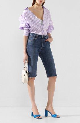Женские джинсовые шорты AGOLDE синего цвета, арт. A119-1046   Фото 2