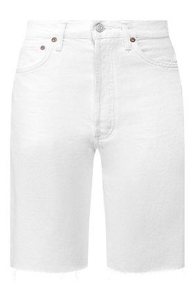 Женские джинсовые шорты AGOLDE белого цвета, арт. A089-1183 | Фото 1
