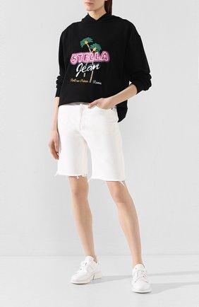 Женские джинсовые шорты AGOLDE белого цвета, арт. A089-1183 | Фото 2