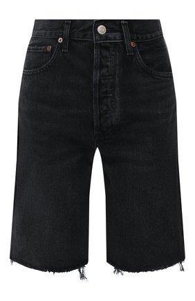 Женские джинсовые шорты AGOLDE черного цвета, арт. A089-1157 | Фото 1