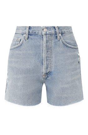 Женские джинсовые шорты AGOLDE голубого цвета, арт. A083B-1141 | Фото 1