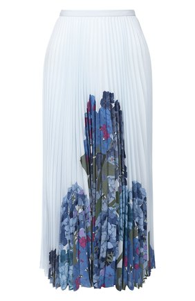 Женская шелковая юбка VALENTINO голубого цвета, арт. TB3RA5K157D | Фото 1