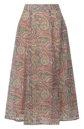 Женская хлопковая юбка PAUL&JOE разноцветного цвета, арт. LKIWI | Фото 1
