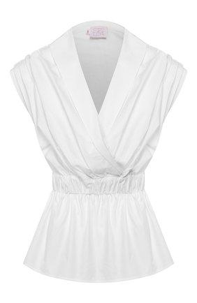 Женская хлопковая блузка STELLA JEAN белого цвета, арт. 20E/J/DR/CA03/0317 | Фото 1