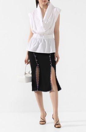 Женская хлопковая блузка STELLA JEAN белого цвета, арт. 20E/J/DR/CA03/0317 | Фото 2