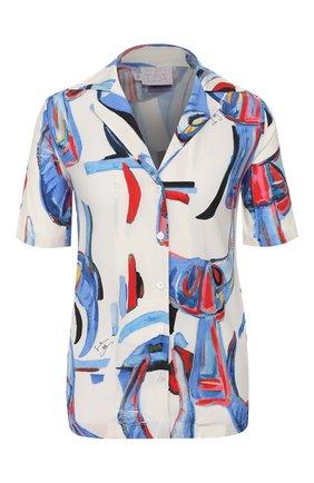 Женская блузка из вискозы STELLA JEAN белого цвета, арт. 20E/J/DR/CA25/2713 | Фото 1