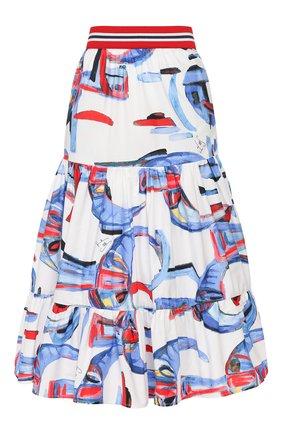 Женская хлопковая юбка STELLA JEAN белого цвета, арт. 20E/J/DR/G008/0350 | Фото 1