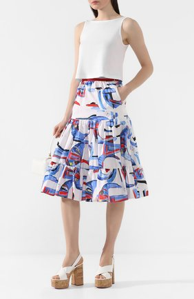 Женская хлопковая юбка STELLA JEAN белого цвета, арт. 20E/J/DR/G008/0350 | Фото 2