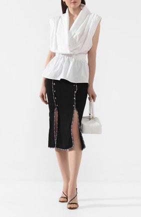 Женская юбка из вискозы STELLA JEAN черного цвета, арт. 20E/J/DR/G013/2710 | Фото 2