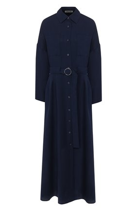 Женское хлопковое платье MAX&MOI синего цвета, арт. E20RUSSIE | Фото 1