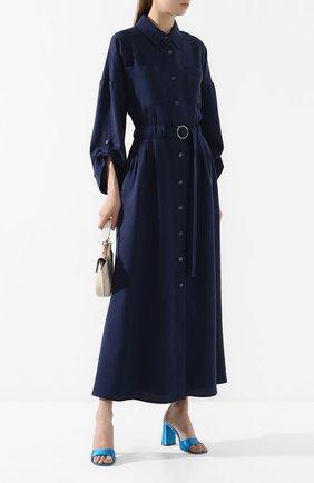 Женское хлопковое платье MAX&MOI синего цвета, арт. E20RUSSIE | Фото 2