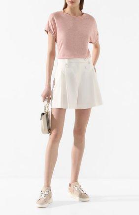 Женские шорты изо льна и вискозы MAX&MOI белого цвета, арт. E20SAIJ0 | Фото 2