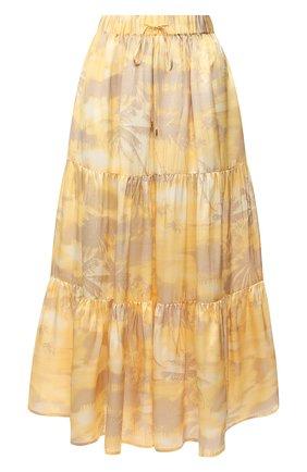 Женская шелковая юбка MAX&MOI желтого цвета, арт. E20SIGNES | Фото 1