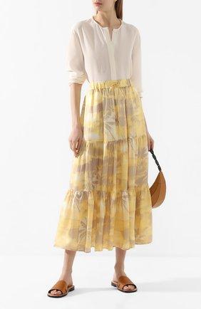 Женская шелковая юбка MAX&MOI желтого цвета, арт. E20SIGNES | Фото 2