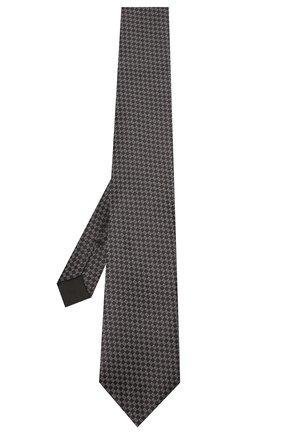 Мужской шелковый галстук TOM FORD черного цвета, арт. 7TF11/XT0 | Фото 2