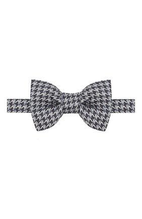 Мужской шелковый галстук-бабочка TOM FORD темно-синего цвета, арт. 7TF49/4CH | Фото 1