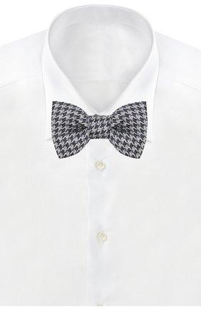 Мужской шелковый галстук-бабочка TOM FORD темно-синего цвета, арт. 7TF49/4CH | Фото 2