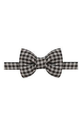 Мужской шелковый галстук-бабочка TOM FORD черного цвета, арт. 7TF57/4CH | Фото 1