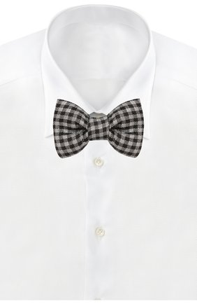 Мужской шелковый галстук-бабочка TOM FORD черного цвета, арт. 7TF57/4CH | Фото 2