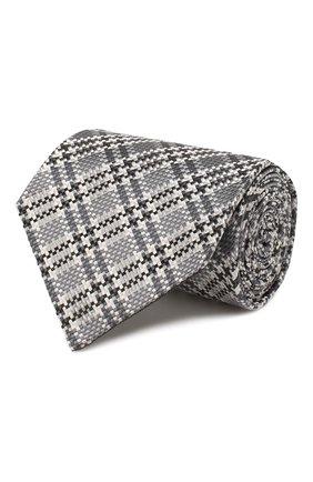Мужской шелковый галстук TOM FORD серого цвета, арт. 7TF61/XT0 | Фото 1