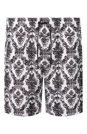 Детского плавки-шорты DOLCE & GABBANA черно-белого цвета, арт. M4A13T/HSMH8 | Фото 1